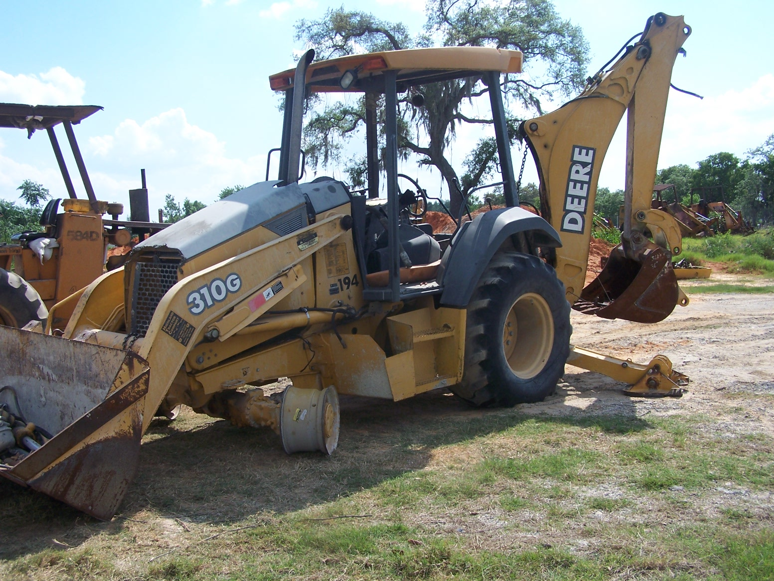 Used Backhoe Engines : John deere g parts southern tractor